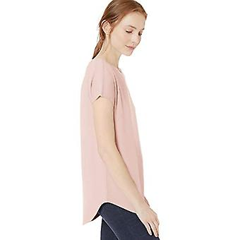 Marca - Daily Ritual Women's Cozy Knit Dolman-Sleeve Boat-Neck Shirt, Pink, X-Small