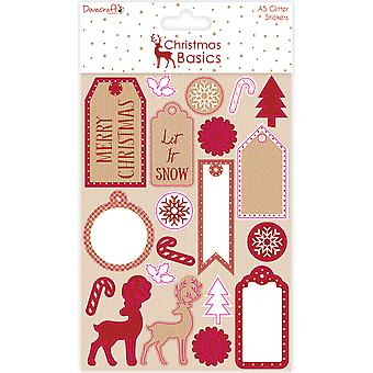 Dovecraft Christmas Basics Stickers-Glitter