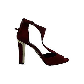 DKNY Naisten colby Suede Peep Toe Rento Nilkkahihna Sandaalit