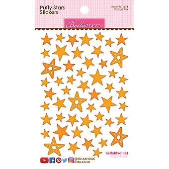 Bella BLVD Orange Mix Puffy Stars Stickers
