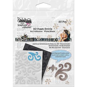 Scrapbook Adhesives 3D Foam Swirls (20pcs) (03001)