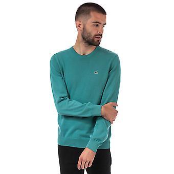 Sweatshirt en jersey de coton de col d'équipage d'équipage d'homme en bleu