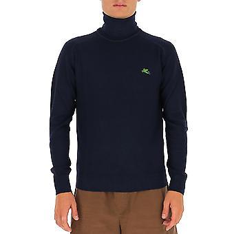 Etro 1m50796710200 Männer's schwarze Wolle Pullover