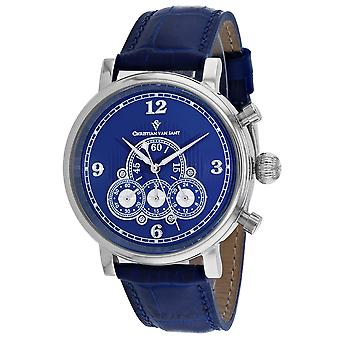 850, Christian Van Sant Men 's CV0712 Reloj azul de cuarzo