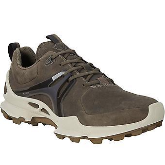 Ecco Mens BioM C-Trail Leather Gore-Tex Walking Hiking Trainers Shoes Dark Clay
