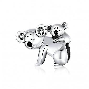 Zilveren Bedel Baby Koala En Mamma - 6668
