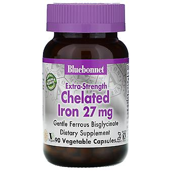 Bluebonnet Nutrition, Extra Strength Chelated Iron, 27 mg, 90 Vegetable Capsules