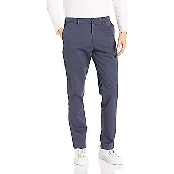 Brand - Goodthreads Men's Athletic-Fit Washed Comfort Stretch Chino Pant, Navy 30W x 32L