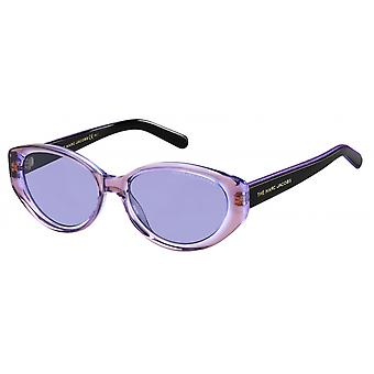 Sunglasses women oval black/violet