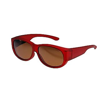 Sunglasses Women's Red with Brown Lens Vz0010ll