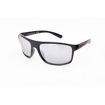 نظارات شمسية للرجال مستطيلة للرجال فضة / أسود (20-221)