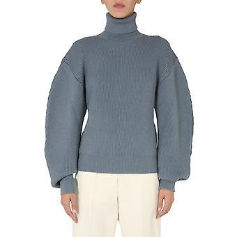 Jil Sander Jswr751304wry20018042 Women's Light Blue Wool Sweater