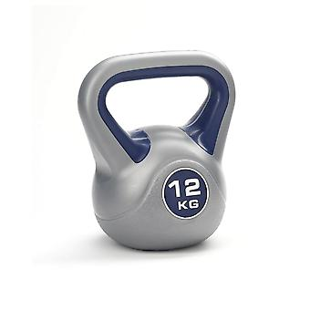 York Fitness Vinyl Coated Gym Training Home Kettlebell - 12kg