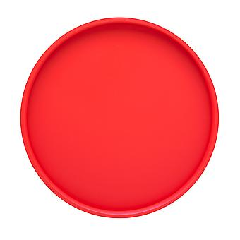 Plateau de service rond rouge de 14 pouces