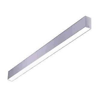 LED Linear Flush Ceiling Light Grey 120cm 2635lm 4000K