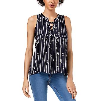 Maison Jules | Sleeveless Lace-Up Top