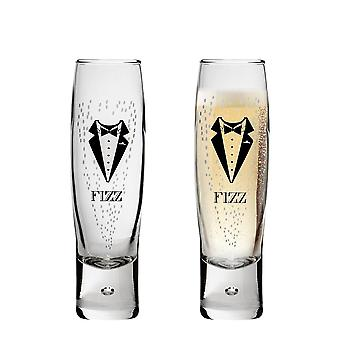 Durobor Gentlemen's Fizz Champagne Glasses - 150ml - Pack of 2 Flutes