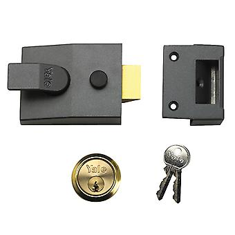 Yale Locks 91 Basic Nightlatch 60mm Backset DMG Finish Box YAL91DMGPB