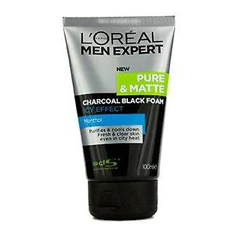Men Expert Pure & Matte Icy Effect Charcoal Black Foam 100ml or 3.4oz