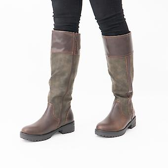 Heavenly Feet Burley7 Ladies Tall Boots Chocolate/forest