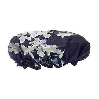 Danielle Creations Midnight Breeze Black Floral Shower Cap