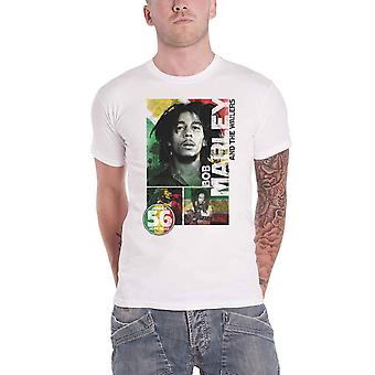 Bob Marley T Shirt 56 Hope Road Rasta Logo new Official Mens White