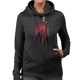 Dracula Cape Pose Dark Blood Illustration Women's Hooded Sweatshirt