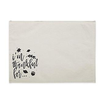 I'm Thankful For - Cotton Canvas Place Mat