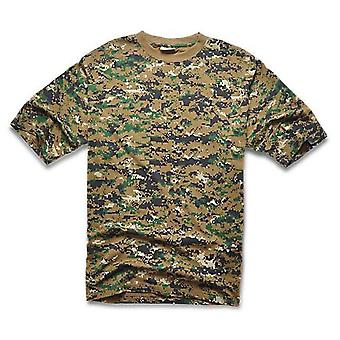 Camouflage/leger Print O Neck Sleeve T-shirt