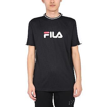 Fila 688079e09 Herren's Schwarzes Polyester T-shirt
