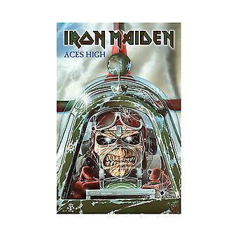 Iron Maiden plakat tekstil ess høy bandets Logo nye offisielle 70 cm x 106 cm