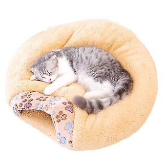 Cat Sleeping Bag, Soft Warm Fluffy Washable Pet Bed With Cute Ears And Tail Self Warming Snuggle Cave