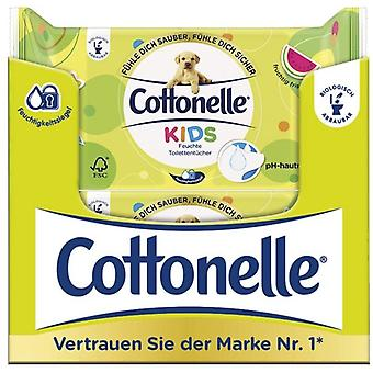 Cottonelle Children's Moist Toilet Tissue Wipes Refill Pack, 12 Packs of 42 Wipes