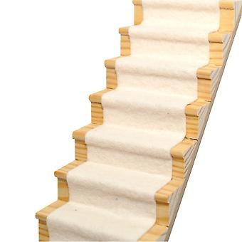 Dolls House Natural Soft Cream Stair Carpet Runner Self Adhesive 1:12 Flooring