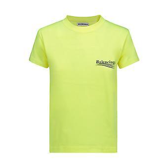 Balenciaga 612964tjvf77110 Damen's gelbe Baumwolle T-shirt