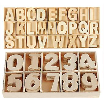 216-Pcs wooden letters and numbers set- wooden capital letters numbers with storage tray - wooden al