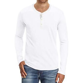 YANGFAN Men's Long Sleeve Lightweight Button T-Shirt