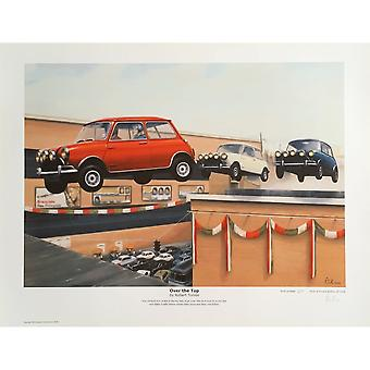 Robert Tomlin Italian Job Over The Top Print By Robert Tomlin