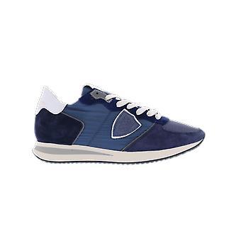 Philippe Model Trpx Low Womanmondial_Bleu Ant Blue A11ETZLDW063MONDIAL_BLEU ANTHRAC shoe