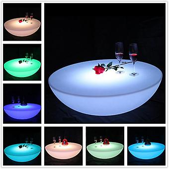 Colorful Outdoor Bar Led Plastic Battery Round Furniture Table Set