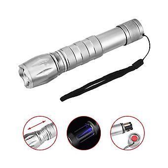 XANES GM1173 800 Lumens Zoomable Repellent Flashlight AAA Battery 6 Modes Torch Light Camping Huntin