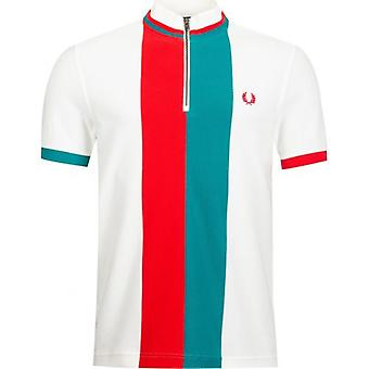 Fred Perry Authentics Stripe Funnel Neck Polo Shirt