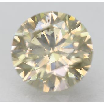 Cert 1.33 Karat Fancy Kellertävänruskea VS2 Pyöreä Brilliant Natural Diamond 6,9mm