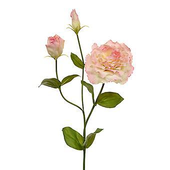 Sztuczna jedwabista gałąź Lisianthus 80 cm różowy