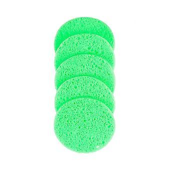 5 Pcs 6/7/8/9cm Face Round Makeup Remover Puff Natural Wood Pulp Sponge