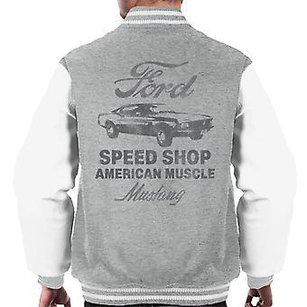 Ford Mustang Speed Shop American Muscle Men's Varsity Jacket