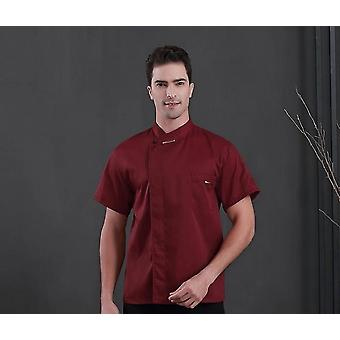 Kock Uniform, Scarf Short Sleeve, Jaket & Shirt Cook Kostymer För Kök