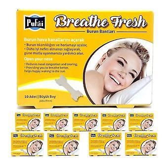Atmen Sie frische Nasenstreifen