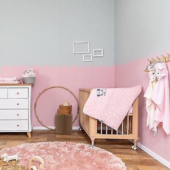 Disney bebé rosa Minnie ratón estrellado noche crib sábanas