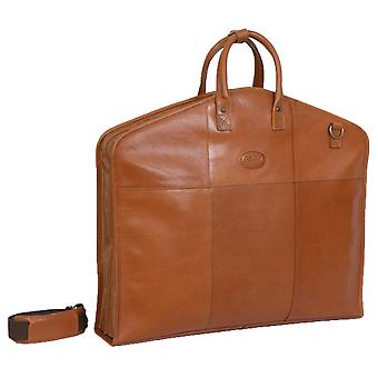 Ashwood Leather Folding Suit Carrier - Brown